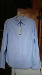 Alex Mill End on End Button Up Shirt Blue Mens Medium M MiUSA New with Tags