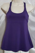 Bally Total Fitness Top~ Adjustable Straps & Built in Bra~ Women's Small~ Purple
