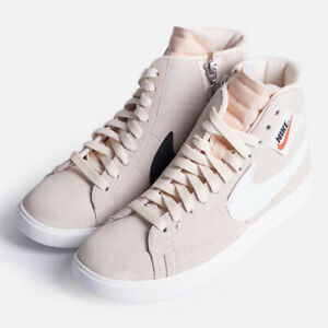 Women,s Nike Blazer Mid Rebel  Running Shoes SZ 10-Pink White Black -BQ4022 801