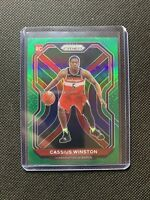 2020-21 PRIZM CASSIUS WINSTON GREEN PARALLEL SP ROOKIE RC #275 WIZARDS INVEST!