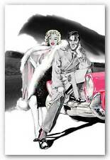 ART PRINT Two for the Road Elvis Presley and Marylin Monroe