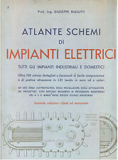BIASUTTI GIUSEPPE ATLANTE SCHEMI DI IMPIANTI ELETTRICI INDUSTRIALI HOEPLI 1959