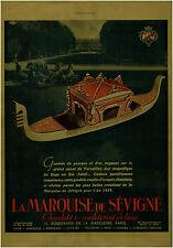 Publicité ancienne la marquise de Sévigné chocolats 1938 issue de magazine