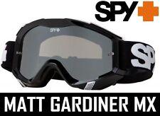 Spy Optics EMBRAGUE Goggles Para Motocross Mx Negro Sabbath PLATA Lentes Espejo