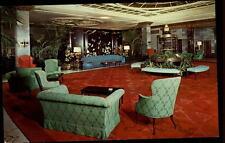 New York America USA postcard ~1950/60 The Barclay interior view of the lobby