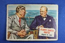 1954 Topps Scoop - #26 Atlantic Charter Drafted - Roosevelt - Good Condition