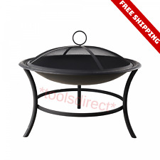Wood Burning Outdoor Fire Pit Backyard Patio Heater Deck Stove Fireplace Bowl