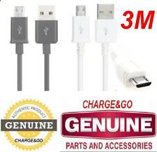 3M EXTRA LONG For Samsung Galaxy TAB 3 S2 S3 S4 Note 2 USB Cable Charger Lead