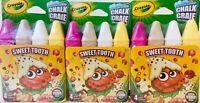3 Packages Crayola Sweet Tooth 4 Colors Washable Sidewalk Chalk For Outdoor Art