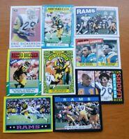 Eric Dickerson HOF - NICE 9 CARD LOT Los Angeles Rams / SMU Mustangs