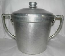 Vintage Hammered Aluminum CANTERBURY ARTS ICE BUCKET Double Wall Insulated MCM