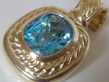 $2925 DAVID YURMAN 18K GOLD, ALBION BLUE TOPAZ ENHANCER