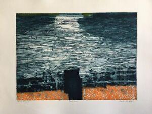 CHARLES BARTLETT RWS RE ARCA 1921-2014 Artist Proof ETCHING Dark Water