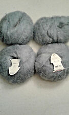 Anny Blatt Yarn, Long Kid', Gray, 4 Skeins