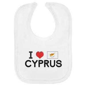 'I Love Cyprus' Soft Cotton Baby Bibs (BI000224)