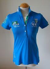 La Martina Damas Polo camisa Polo Brasil Tour Azul-Talla 2