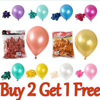 """25 X Pearlised Latex Balloons 10"""" Inch Helium or Air Party Weddings Christening"""