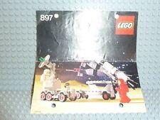 LEGO® Space Classic Bauanleitung 897 Mobile Rocket Launcher BA gelocht
