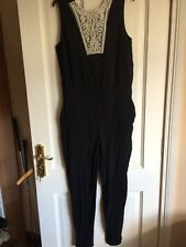 Beaded Catsuit Black Pearl Size 14 Playsuit