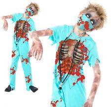 Zombie Surgeon Doctor Scrub Nurse Ghoul Horror Halloween Fancy Dress Costume
