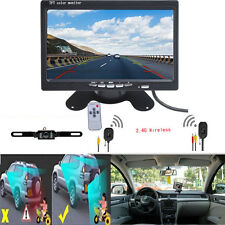 "7"" Rear view Monitor + Wireless Night Vision Car Reverse Backup Camera USA SHIP"
