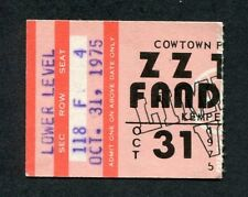 1975 ZZ Top Rory Gallagher concert ticket stub Kansas City MO Fandango Tour