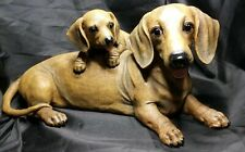 """""""Mommy & Me"""" Dachshund Hand-Painted Sculpture by The Danbury Mint"""