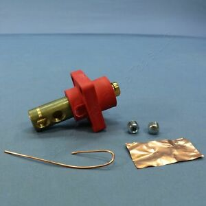 Leviton Red ECT 18 Series Cam Male Panel Receptacle Ball Nose 400A 18R23-R