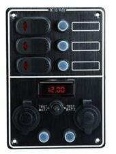 Schalttafel Schaltpanel 3-fach12 V mit Voltanzeige 2 Batterien Batterietester