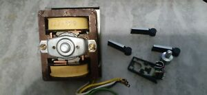 DUAL TURNTABLE MOTOR, HEADSHELL, LEVERS. SPINDLE PARTS. MODEL 1218