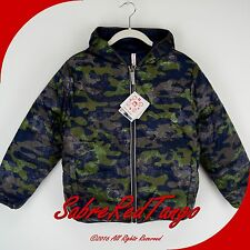 NWT HANNA ANDERSSON WARMEST REVERSIBLE DOWN JACKET COAT NAVY CAMOUFLAGE 90 3T 3