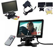 """Tv LCD 7"""" colori.Per auto,casa,& videosorveglianza.Base regolabile. 12V 24V 220V"""