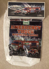 """Hess"" Emergency Fire Truck with Rescue Vehicle 2005 Original Box And Bag"