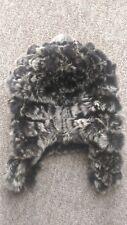 H4new Design Vero CINCILLA 'Lavoro a Maglia Cappello di pelliccia