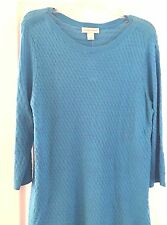 CHRISTOPHER & BANKS TEXTURED SLUB TURQUOIS PULLOVER SIZE L NWT
