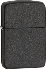 Zippo Windproof 1941 Replica Style Black Crakle Lighter 28582, New In Box