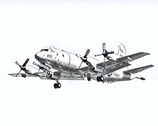 US Navy P-3C Orion Artistic Style Print 8x10