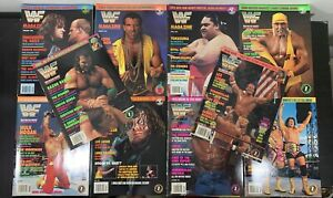 WWF Magazine 1993 Lot Of 10!! Hogan Undertaker All Poster Catalogs Included!!