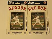 🔥 (2) 2007 BOSTON RED SOX Topps Baseball Set ROOKIE !! BRAND NEW 🔥