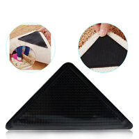 4PCS Rug Carpet Mat Grippers Ruggies Non Slip Skid Reusable Washable Grips