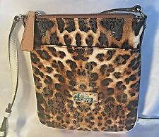 GUESS Crossbody Purse Handbag HULA GIRL Leopard Cheetah Bag Wallet 4G Logo