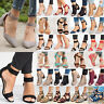 Womens Mid Block Heels Wedge Gladiator Sandals Casual Ankle Strap Party Shoes