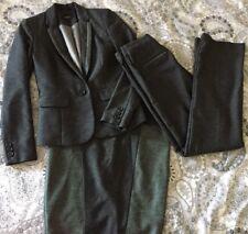 Size 6-8 NEXT Tailored Grey 3 Piece Suit - 6R Blazer, 8R Skirt, 8L Trousers