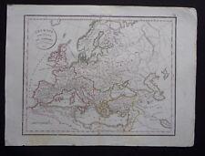 § carte l'Europe avant l'invasion des barbares - Félix Delamarche 1828
