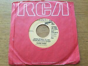 "GLENN JONES - Giving Myself To You 1986 ELECTRO SOUL 7"" Promo"