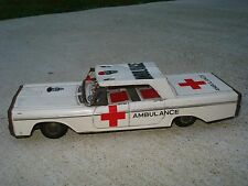 Kyowa Friction Motor Tin Toy Plymouth Ambulance Made Japan Vintage Collectable