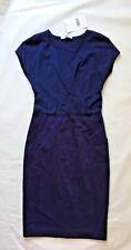 NWT Max Mara Women's Squaw Crossover Blue Dress Size 4 $745