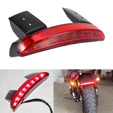 Tail Light 12V Brake 8-LED License Plate Motorcycle FOR Bobber Cafe Racer