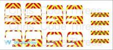 CODICE 3 Decalcomanie in vinile adesivo per adattarsi 1//76 Oxford Diecast transito-carico anormale
