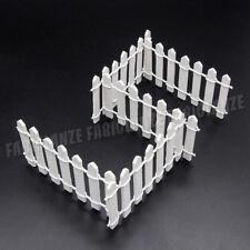 1:12 Miniatur 5 Stühlen Lattenzaun Weiß Puppenhaus Zubehör Für Fee Garten